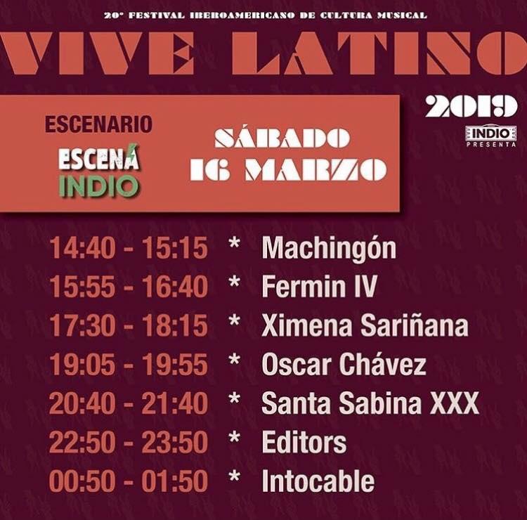 Horarios Vive Latino 2019