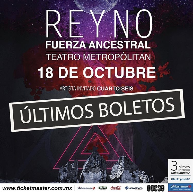 Reyno dará un show especial en el Teatro Metropólitan