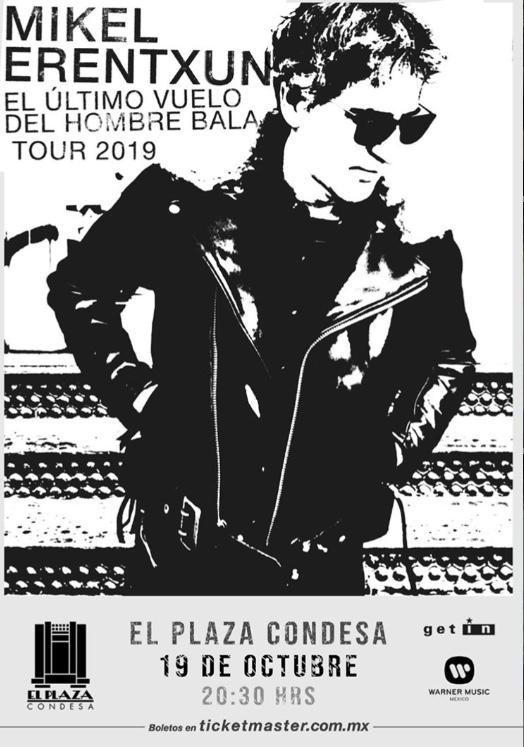 Mikel Erentxun visitará México durante su gira mundial