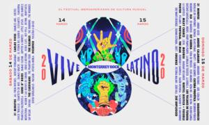 Cartel del vive latino 2020 por día
